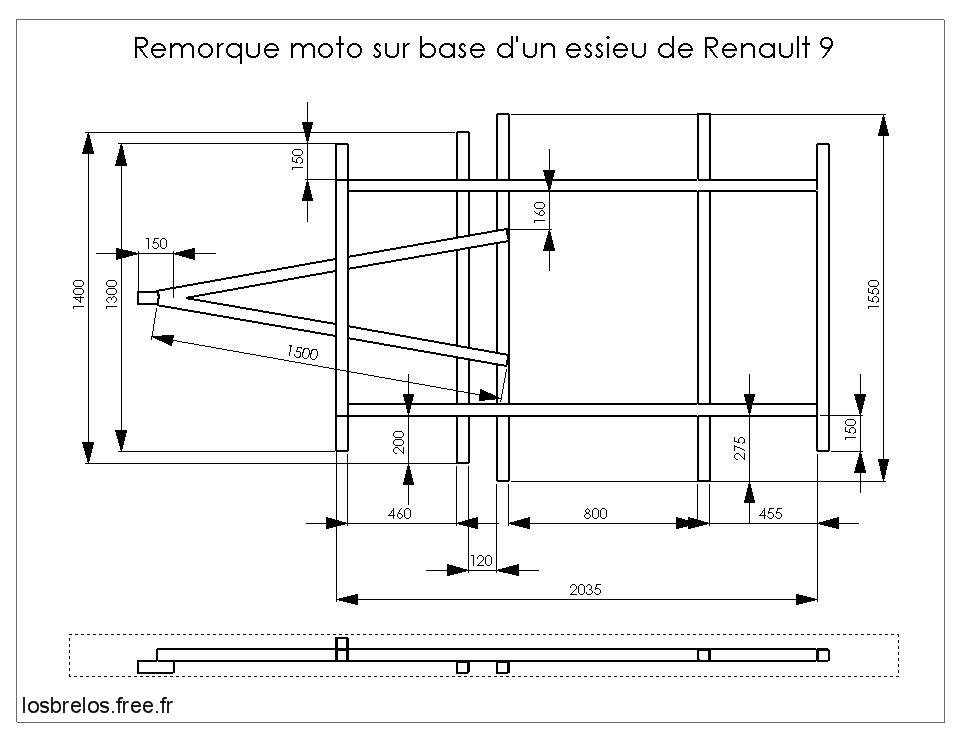 Fabrication remorque for Fabricant de plan de maison